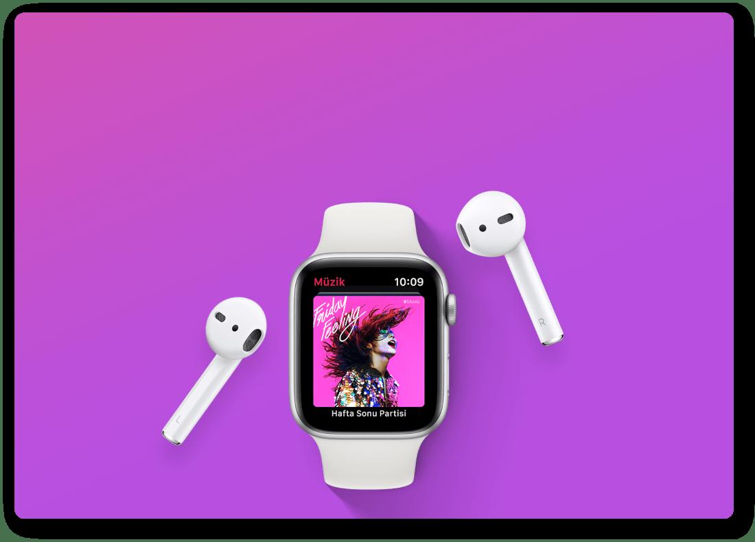 Apple Watch'la çalın.